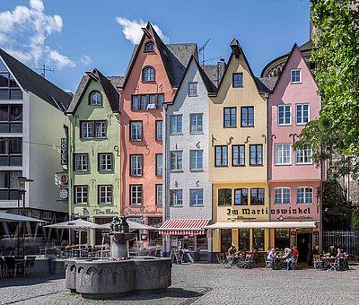 Brunnen auf dem Fischmarkt in der Kölner Altstadt ©Jens Korte, KölnTourismus GmbH