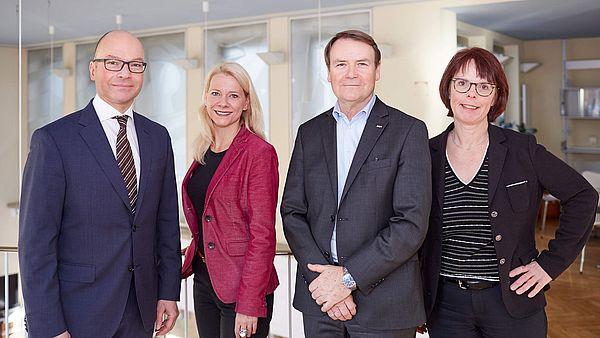 Pressekonferenz Tourismusbilanz Köln 2017: Alexander Hoeckle , Stephanie Kleine Klausing, Josef Sommer, Elisabeth Thelen. ©Dieter Jacobi