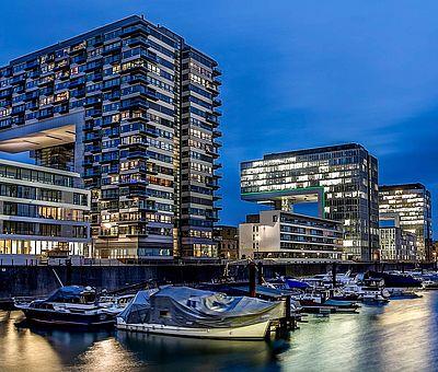 Yachthafen im Kölner Rheinauhafen ©Jens Korte, KölnTourismus GmbH
